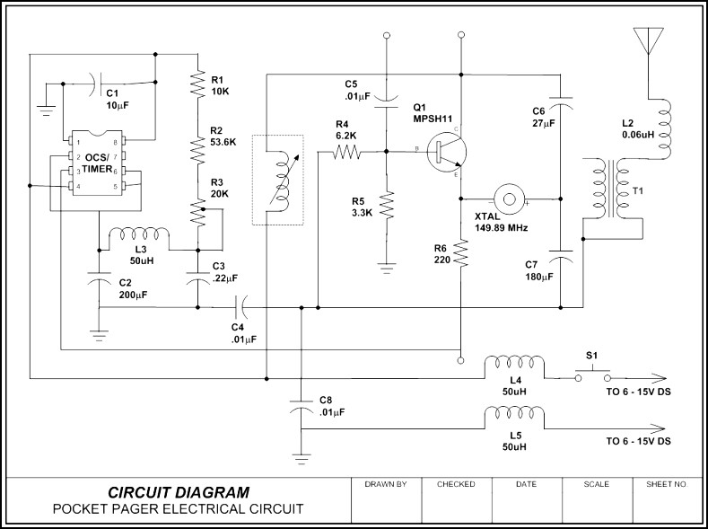 Circuit Diagram - Pocket Pager Template - Sample Templates ...