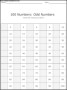 100 Numbers – Odd Numbers Template