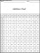 Addition Chart Template