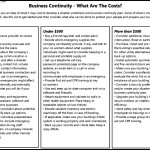 Business Continuity Costs Template