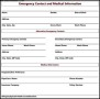 Emergency Contact and Medical Information Template