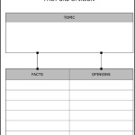 Fact and Opinion Worksheet Template