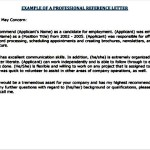 Good Example For Job Reference Letter