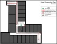 Hotel – Elevator Evacuation Plan Template