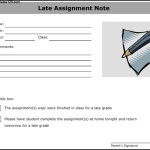 Late Assignment Note Template