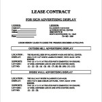 Lease Contract Advertising Template