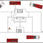 Office Building Fire Scene Template