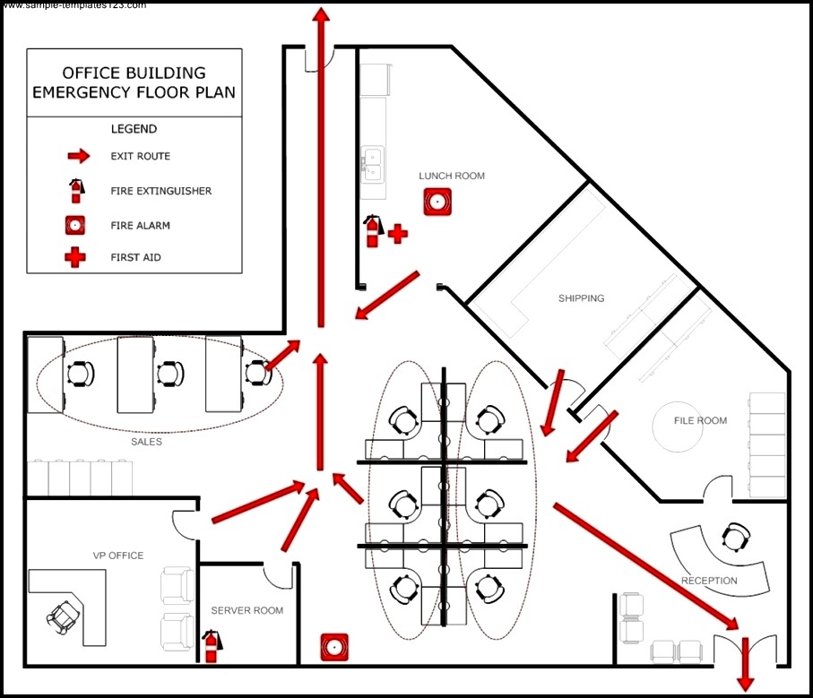 Office Evacuation Plan Template Sample Templates