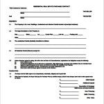 Residential Real Estate Contract Template