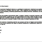 Sample Download Example For Work Reference Letter