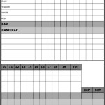 Sample Golf Scorecard Template