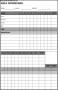 Sample Golf Scorecard Template