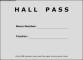 Sample Hall Pass Template