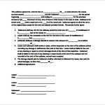 Simple Sublease Contract Template