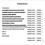 Training Survey Template PDF