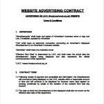 Website Advertising Contract Template
