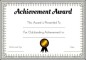 Achievement Awards Certificate
