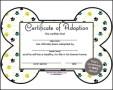 Adoption Certificate Template PDF Sample
