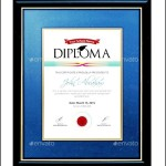 Amazing PSD Diploma Certificate Template