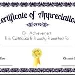 Appreciation Certificate For Particepent Free Illustrator File