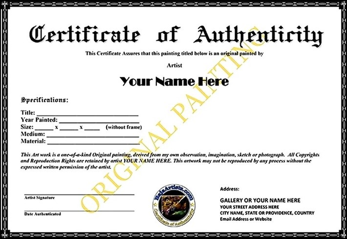 Authenticity image template certificate of authenticity template dubuque blog certificate of authenticity yelopaper Images