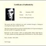 Artist Certificate of Authenticity