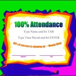 Attendance Certificate Template Free