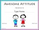 Awesome Attitude Certificate Template
