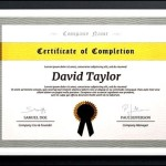 Awesome Photoshop Diploma Certificate Template