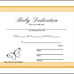 Baby Dedication Certificate Printable