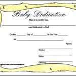 Baby Dedication Certificate with Frame