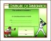 Baseball Participation Certificate Template
