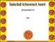 Basketball Award Certificate Template PDF