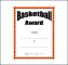 Basketball Award Template Free