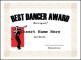 Best Dancer Award Funny Certificate Template