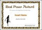 Best Poser Award Funny Certificate Template Example