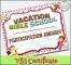 Bible School Certificate Template
