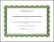 Blank Attendance Certificate Template