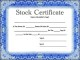 Blank Corporate Stock Certificate Template
