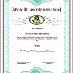 Blank Fake Diploma Degree Certificate Template