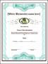 Blank Fake Diploma Degree Certificate Template