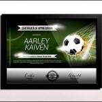 Blank Football Certificate Template