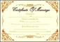 Blank Marriage Certificate Template Download Sample