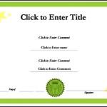 Blank School Success Certificate Template