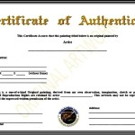 Certificate of Authenticity Template PDF