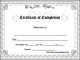 Certificate of Completion Template Free Example