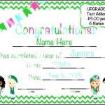 Certificate of Completion Template for Kids