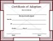 Certification of Adoption