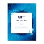 Christmas gift Certificate Template Word Free