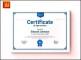 Clean Modern Professional Certificate